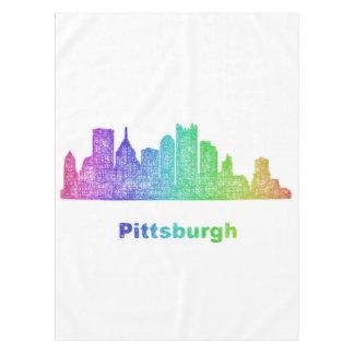 Rainbow Pittsburgh skyline Tablecloth