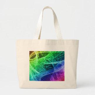 rainbow pixel canvas bags