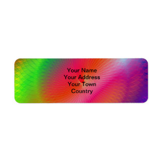 Rainbow Plafond Return Address Label