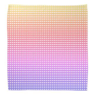 Rainbow Plaid Bandana