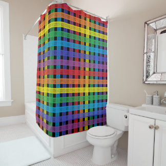 Rainbow Plaid Black