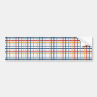 Rainbow Plaid Bumper Sticker