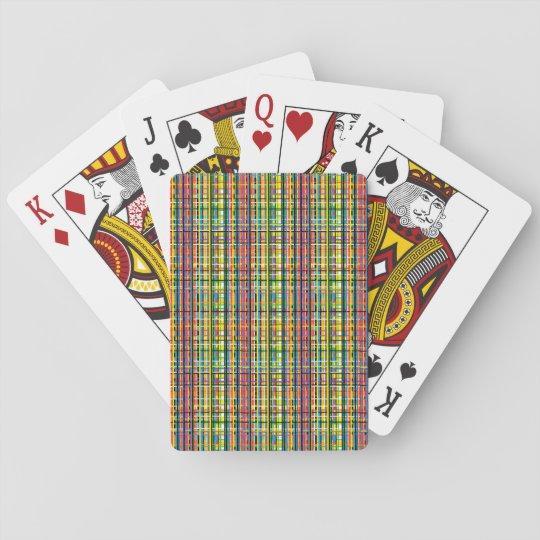 rainbow plaid cards