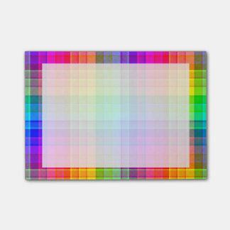 Rainbow Plaid Custom Post-it Notes