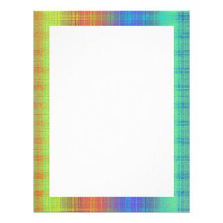 Rainbow Plaid Customize It or Go Bold Plaid Letterhead Template