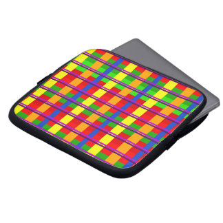 Rainbow Plaid Laptop Sleeve