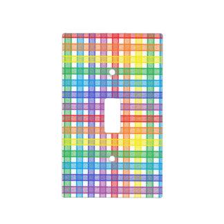 Rainbow Plaid Light Switch Cover