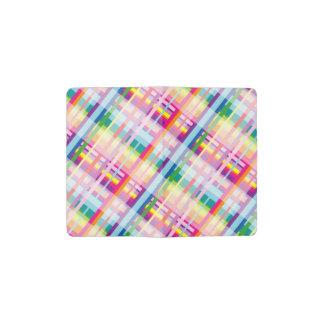 Rainbow Plaid MOLESKINE® Pocket Notebook! Pocket Moleskine Notebook