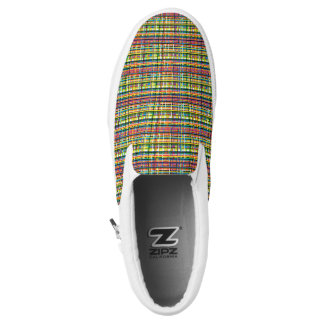 rainbow plaid shoes