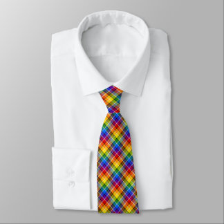 Rainbow Plaid Tie