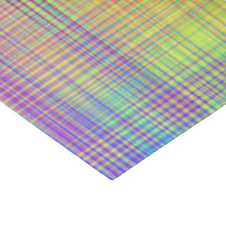 Rainbow Plaid Tissue Paper