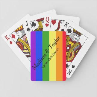 Rainbow playing cards LGBTQ wedding