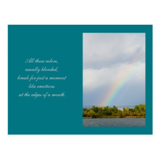 Rainbow Poetry Reading Template Card Postcard