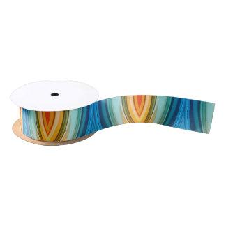 Rainbow Pointed Arches Ribbon Satin Ribbon