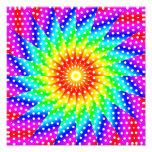 Rainbow Polka Dot Kaleidoscope Mandala