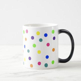 Rainbow Polka Dots Morphing Mug