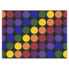 Rainbow Polka Dots on Black Tissue Paper