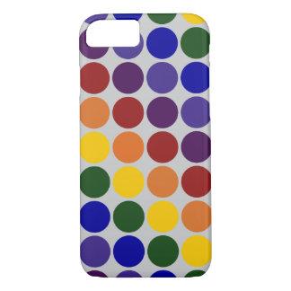 Rainbow Polka Dots On Grey iPhone 7 Slim Case