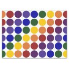 Rainbow Polka Dots on White Tissue Paper