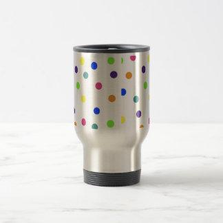 Rainbow Polka Dots Travel Mug