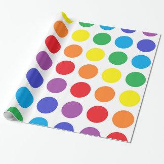 Rainbow Polka Dots Wrapping Paper