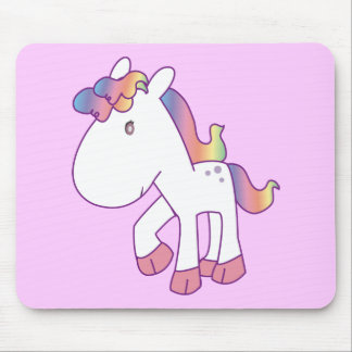 Rainbow Pony Mouse Pad