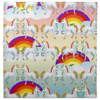 Rainbow pony napkin