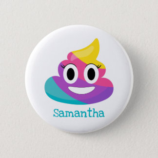 Rainbow Poop Emoji 2 Inch Round Button