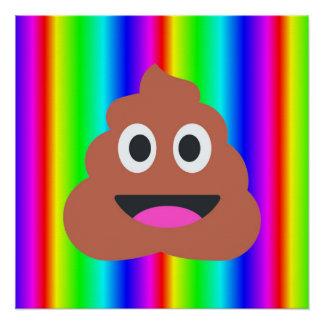 rainbow poop emoji art poster perfect poster