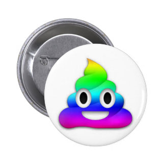 Rainbow Poop Emoji Button