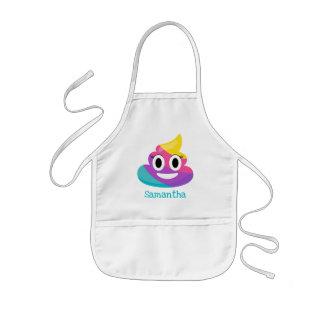Rainbow Poop Emoji Kids Apron