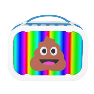 rainbow poop emoji lunch box lunchbox