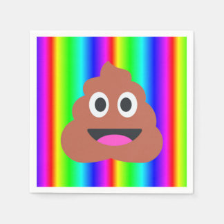 rainbow poop emoji napkins disposable napkins