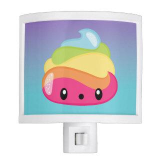 Rainbow Poop Emoji Night Lights