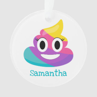 Rainbow Poop Emoji Ornament