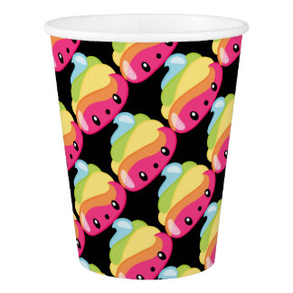 Rainbow Poop Emoji Paper Cup