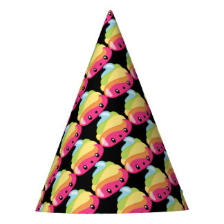 Rainbow Poop Emoji Party Hat