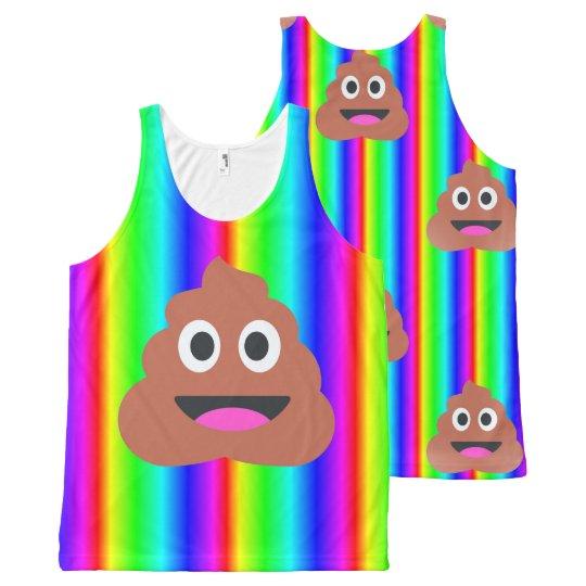 rainbow poop emoji tank top tee shirt t-shirt