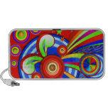 Rainbow Pop - Abstract Art Vector Doodle Speaker