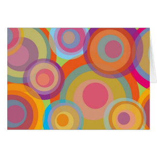 Rainbow Pop Circles Colorful Retro Fun Groovy Chic Card