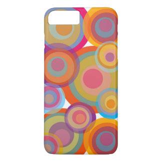 Rainbow Pop Circles Colorful Retro Fun Groovy Chic iPhone 7 Plus Case