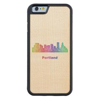 Rainbow Portland skyline Maple iPhone 6 Bumper