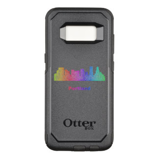 Rainbow Portland skyline OtterBox Commuter Samsung Galaxy S8 Case