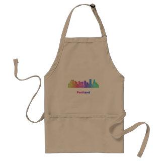 Rainbow Portland skyline Standard Apron
