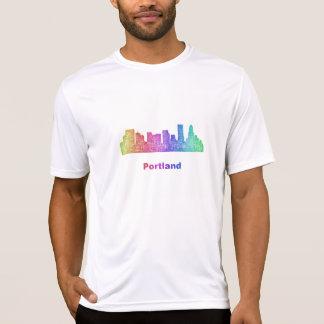 Rainbow Portland skyline T-Shirt