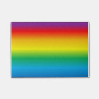 rainbow post-it notes