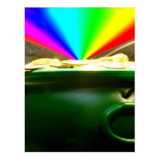 Rainbow Pot of Gold Postcard