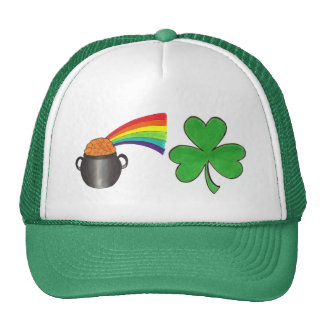 Rainbow Pot of Gold Shamrock St. Patrick's Day Hat