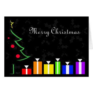 Rainbow Presents Holiday Card