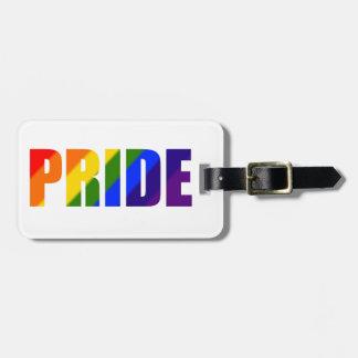 rainbow pride bag tag for luggage